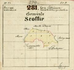 Archivio di Stato di Trieste, Mappa catastale del Comune di Albaro Vescovà foglio I, sezione I, Segnatura: 6 b 01