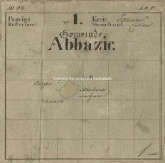 Archivio di Stato di Trieste, Mappa catastale del Comune di Abbazia foglio I, sezione I, Segnatura: 1b 01