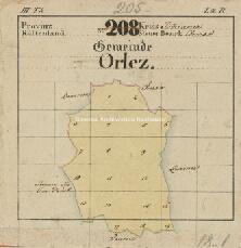 Archivio di Stato di Trieste, Mappa catastale del Comune di Aquilonia foglio IV, sezione IV, Segnatura: 14 b 04