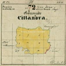 Archivio di Stato di Trieste, Mappa catastale del Comune di Cittanova d'Istria foglio II, sezione II, Segnatura: 123 b 02