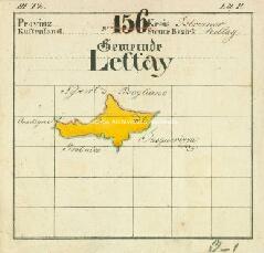 Archivio di Stato di Trieste, Quadro di unione delle mappe catastali del Comune di Lettai, Segnatura: 249 b 00