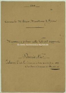 Archivio di Stato della Spezia, Prefettura, Affari generali, Perizie d'Esproprio del Genio militare, Perizia n. 102 C - Falconi eredi fu Domenico, b. 10 fasc. 18, 18 pp.