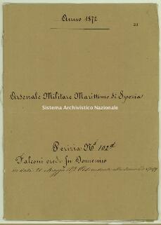 Archivio di Stato della Spezia, Prefettura, Affari generali, Perizie d'Esproprio del Genio militare, Perizia 102 D - Falconi eredi fu Domenico, b. 10 fasc. 23, 18 pp.