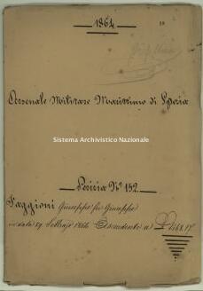 Archivio di Stato della Spezia, Prefettura, Affari generali, Perizie d'Esproprio del Genio militare, Perizia n. 152 - Faggioni Giuseppe fu Giuseppe, b. 8. 19, 52 pp.