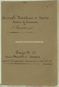 Archivio di Stato della Spezia, Prefettura, Affari generali, Perizie d'Esproprio del Genio militare, Perizia n. 10 - Mensa vescovile di Sarzana, b. 1 fasc. 14, 16 pp.