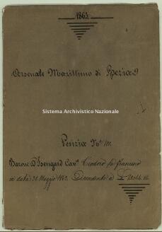 Archivio di Stato della Spezia, Prefettura, Affari generali, Perizie d'Esproprio del Genio militare, Perizia n. 100. Barone D'Isengard cav.re Teodoro fu Francesco, b. 6 fasc. 3, 26 pp.