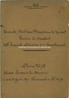 Archivio di Stato della Spezia, Prefettura, Affari generali, Perizie d'Esproprio del Genio militare, Perizia n. 174 - Strata Antonio fu Domenico, b. 9 fasc. 37, 14 pp.