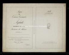 Archivio di Stato di Milano, ALLEGATO DI RETTIFICA DEL COMUNE CENSUARIO DI AGLIATE, Segnatura: 2843 -, Mappa: 2, Foglio: 1 (id: 167475)